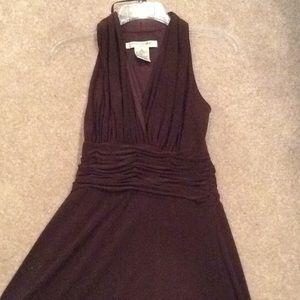 Halter dress, v neck, Evan picone, knee length, 6